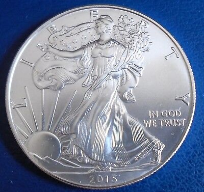 USA 2015 One Dollar Eagle, 1 troy ounce of pure silver + capsule - top grade