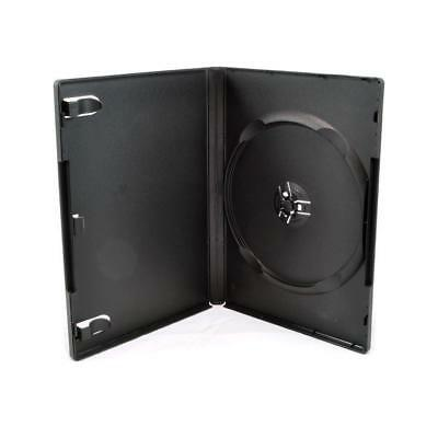 Maxtek Standard 14mm Black Single Disc DVD Cases with Outer Clear Sleeve (25