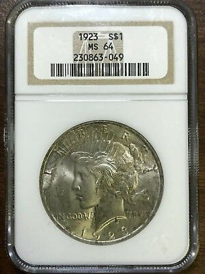 1923 Peace Silver Dollar - NGC MS64 - BRILLIANT UNCIRCULATED - #863-049
