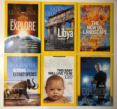 National Geographic Magazine Collection January 2013-June 2013