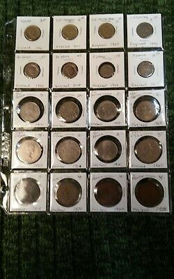 Collection Of Great Britain Coins dating from 1912-2008
