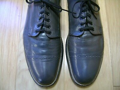 99f7a01bddba9 STACY ADAMS MENS Size 11 M Black Leather Upper/sole Lace Up Oxford ...