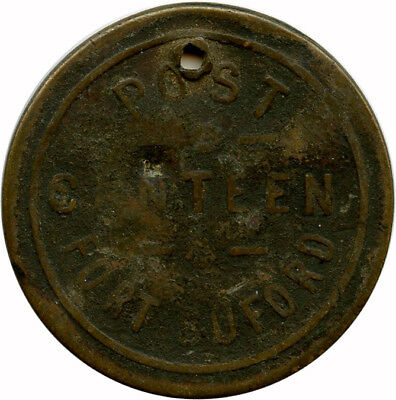 Post Canteen Fort Buford, North Dakota ND Territorial Military 5¢ Trade Token