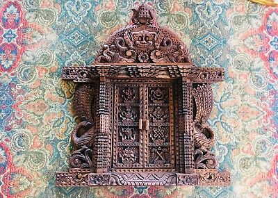 Ancient Vintage Style Nepali Wooden Wall Decor