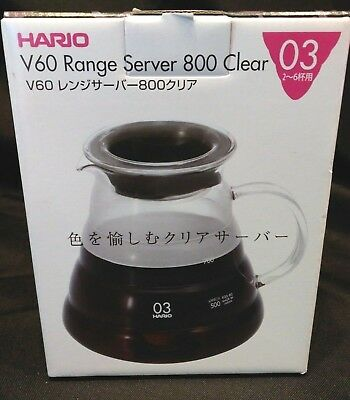 HARIO Japan V60 Range Server Clear 800ml--03 NEW