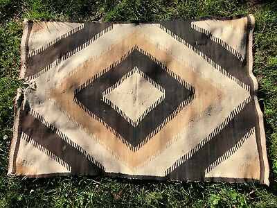 "Vintage Navajo Hand-Woven Native American Indian Style Rug Carpet, 30"" x 46"""