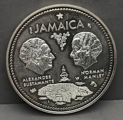 1972 Jamaica Ten Dollar Silver Coin Tenth Anniversary of Independence
