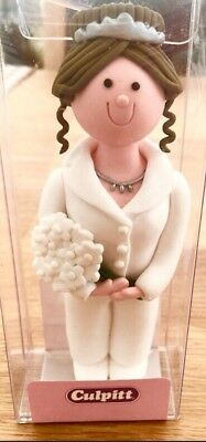Clay Dough Bride with trousers and brown hair NEW in Box. Lesbian/Gay/Straight.