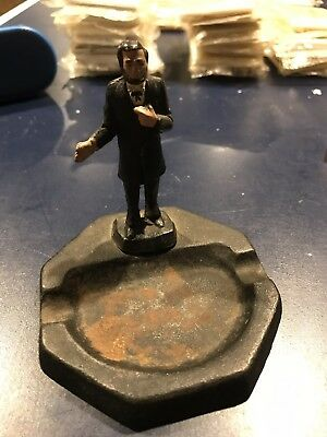 Antique Cast Iron PRESIDENT ABRAHAM LINCOLN Ash Tray- Honest ABE, Hand Painted