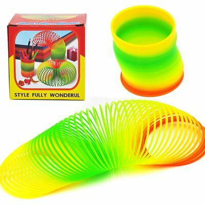 Magic Plastic Slinky Rainbow Spring Colorful New Children Funny Classic Toy NZ