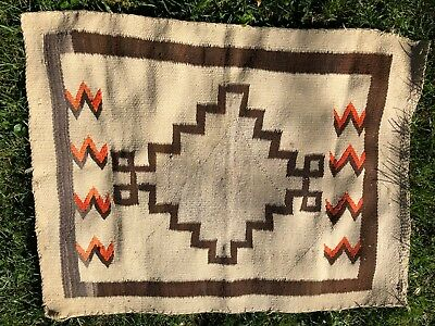 "Vintage Navajo Native American Rug Carpet with lazy lines, 31"" x 41"""