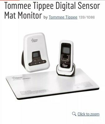 TOMMEE TIPPEE Closer to Nature DIGITAL MOVEMENT & SOUND Baby Monitor Sensor Pad.