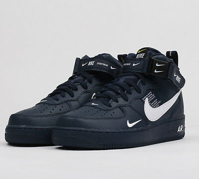 Nike Air Force 1 Mid '07 Lv8 Blue High Top - Uk 7.5 - Free Postage