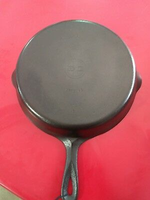 Vintage Griswold No. 10 Cast Iron Skillet, No. 716, Small Logo, Smooth Bottom