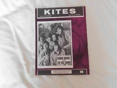 Simon Dupree and The Big Sound - Kites - 1967 Sheet Music