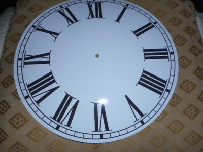 "Round Paper Clock Dial - 11"" M/T- Roman - GLOSS WHITE - Face / Parts/Spares"