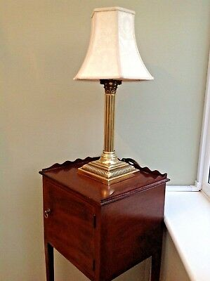Beautiful Edwardian Brass Corinthian Column Lamp
