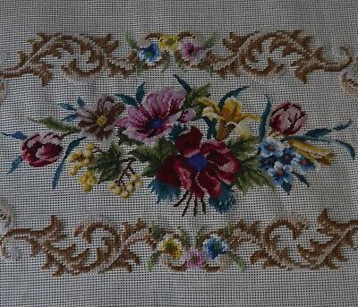 """""""Nocturne in C"""" Preworked Needlepoint Bench Cover"""
