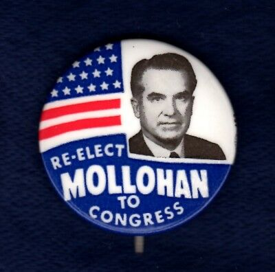 Bob Mollohan Calhoun West Virginia Congress Shepherd Political Pinback Button #1