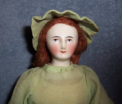 "PRETTY! 16"" Antique Biedermeier German Porcelain China Head Doll"