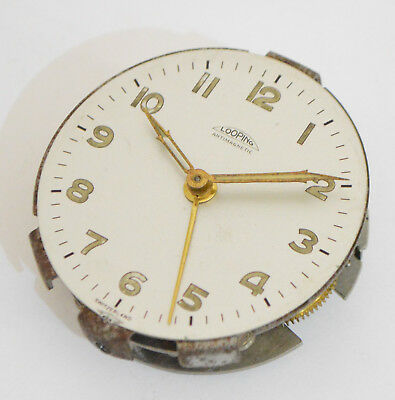 Looping Vintage Alarm Clock Movement with dial Watchmakers Watch Parts