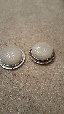 Vintage Bus Interior Light Dome x2 glass