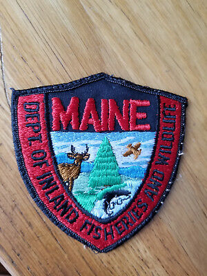 Maine Inland Fish and Wildlife Departmernt of Conservation Police Patch