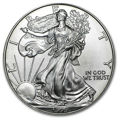 (1) 1999 American Silver Eagle United States Mint Brilliant Uncirculated Coin!