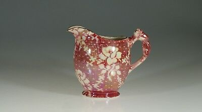 "Royal Winton ""Cranberry Brocade"" Chintz Rosebud Pitcher, England c. 1930"