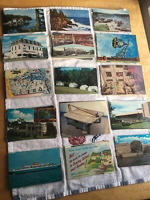 Lot of 68 Vintage postcards, Random cards mostly from the 1970s, post cards