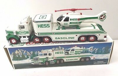1995 Hess Truck - Toy Truck And Helicopter - Mint In Box