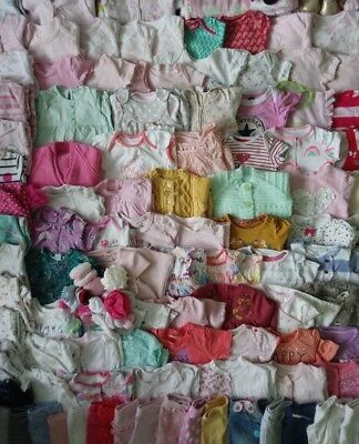 Massive Baby Girls Clothes Bundle 0 - 3 Months/Over 70 Items