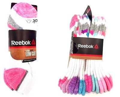 Reebok Womens Performance Training Assorted Color 8 Pack Low Cut Socks