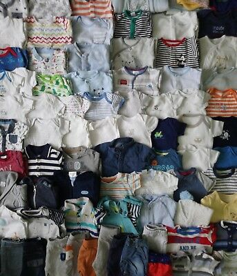 Massive Baby Boys Clothes Bundle 0 - 3 Months/Over 90 Items