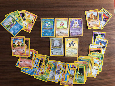 Lotto 47 Carte Pokemon set base ITA 1999 - Blastoise 2/102 Holo Foil cards lot