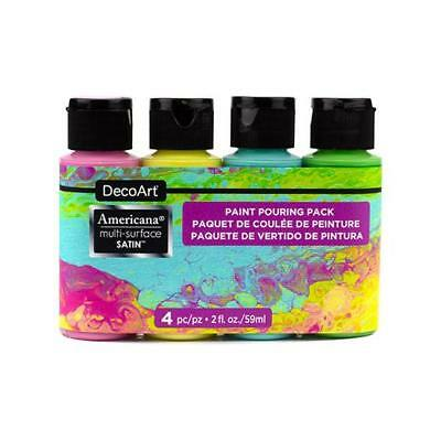 DecoArt Americana Multi-Surface Acrylic Paint Pouring Pack 4pcs