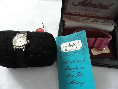 New Old Stock 60's Swiss Made Admiral Mechanical Wind Up Ladies Watch with Case