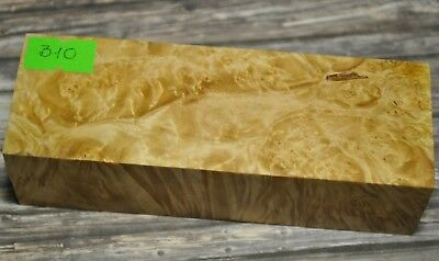 Stabilized Maple Wood Burl Block Box Woodturning Blanks Yellow 310