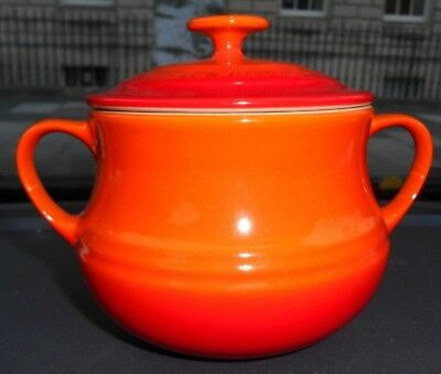 Le Creuset Stoneware Volcanic Red Soup Pot with Lid - VGC