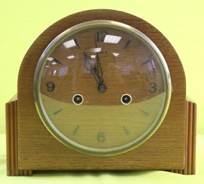 Vintage Light Brown Smiths Clock With Key ##WEL69RG