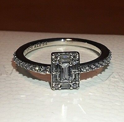 Pandora Luminous Ice Ring 197541Cz , S925 Ale, Sterling Silver, All Sizes