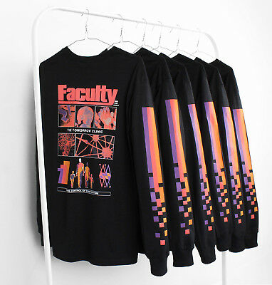 Agora Faculty Long Sleeve T Shirt Top vaporwave NEW