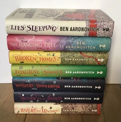 Ben Aaronovitch RIVERS OF LONDON Set Of 7 Signed Ed & #'d First Editions