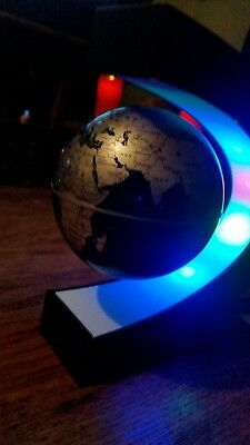 Magnetic Levitating Rotating Earth Globe World Map LED Light Lamp Education UK