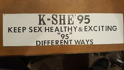 Vintage  KSHE 95 Radio Real Rock Radio Bumper Sticker St. Louis