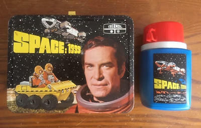 SPACE 1999 King Seeley Thermos Metal Lunchbox 1975 Gerry Anderson Thunderbirds