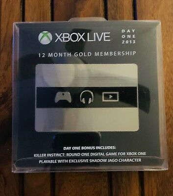 Xbox Live Day One 2013 12 Month Gold Membership Collectable No Codes!!!