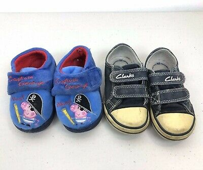 Clarks Doodles Fluffy Brown baby slippers sizes infants 3//18.5-6//22.5 G