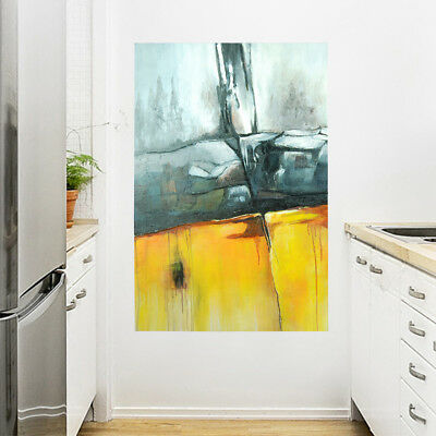 Hand Painted Modern Abstract Wall Art Oil Painting on Canvas Framed - Metope
