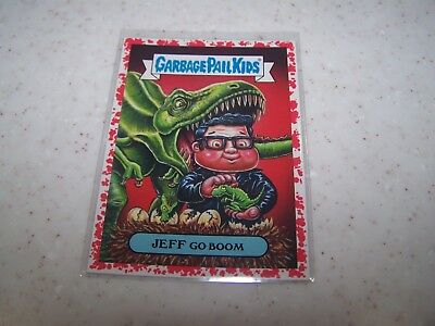 7B JEFF GO BOOM 2019 Garbage Pail Kids WE HATE THE 90'S RED 07/75